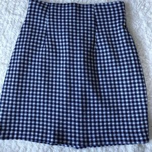 Confessions Brand Checkered Pencil Skirt S